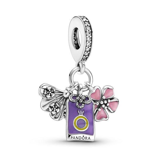 Pandora Талисман висулка Цвете Сакура, Ветрило и Омамори