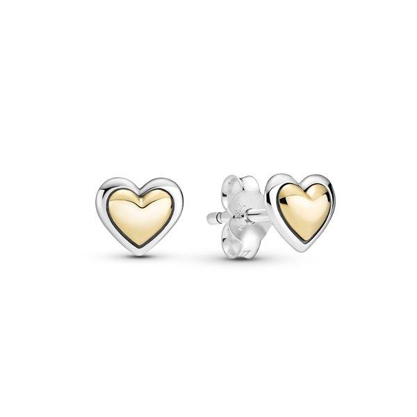 Pandora Обеци Сърце от злато